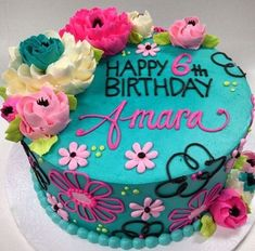 Pretty Cakes, Beautiful Cakes, Amazing Cakes, Buttercream Flowers, Buttercream Cake, Cake Fondant, White Flower Cake Shoppe, Birthday Cake Decorating, Cake Decorating Techniques