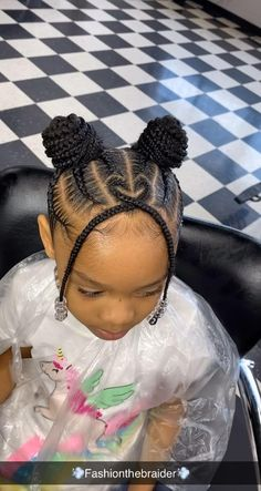 Little Girls Natural Hairstyles, Little Girl Braid Hairstyles, Cute Toddler Hairstyles, Black Kids Hairstyles, Baby Girl Hairstyles, Kids Braided Hairstyles, Cute Hairstyles, Little Girl Braid Styles, Little Girl Braids