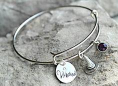 Halloween Bracelet - Witch Bracelet - Wicked Bracelet - Creepy Bangle - Witches Hat - Spooky Jewelry - Custom Charm Bracelet by DinahDesigns on Etsy https://www.etsy.com/listing/247750344/halloween-bracelet-witch-bracelet-wicked
