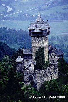 Castle Falkenstein (Burg Falkenstein, Niederfalkenstein) in the Tauern region of central Austria built in the 12th century