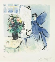 Marc Chagall - Blue Studio, 1973
