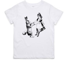 El Cheapo Alice and the Rabbit Toddler White T-Shirt