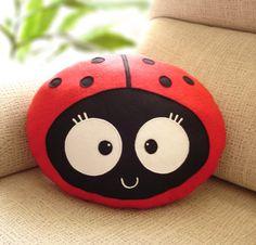 LADYBUG  CUSHION Wemba Decorative plush pillow  by lovelia on Etsy