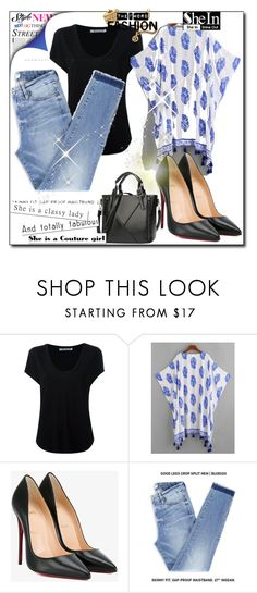 """Sheinside contest"" by azrahadzic ❤ liked on Polyvore featuring Alexander Wang and Christian Louboutin"