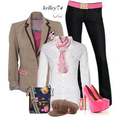 Heels,blazer and Jeans, created by kelley74 on Polyvore