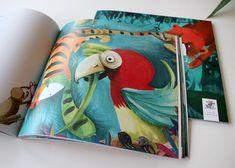 Carte frumoasă pentru copii, pusă în pagină în atelierul nostru. Nina Cassian - Povestea a doi pui de tigru, numiți Ninigra și Aligru Atelier