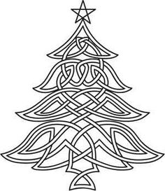 Celtic Christmas Tree Embroidery Pattern = @Ruth H. H. H. H. Murphy... Saw this thought of you...
