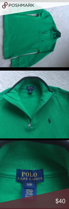 Ralph Lauren Polo sweater with half zipper This is the perfect sweater for any occasion for a young boy. It can be a dressy sweater or casual with jeans. It looks brand new Polo by Ralph Lauren Shirts & Tops Sweaters