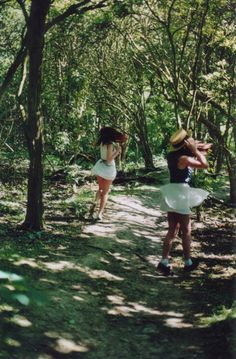 Me and Taylor frolicking in the woods