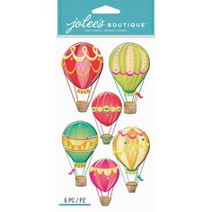 Hot Air Balloons - Jolee's Boutique Dimensional Stickers