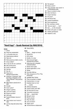 People Magazine Crossword Puzzles To Print Puzzles Pinterest