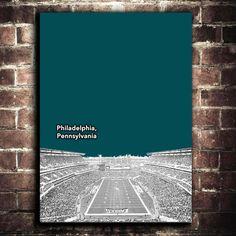 Philadelphia Eagles NFL Football Mancave Art Print 12x16