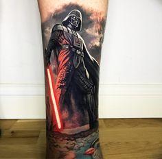 Darth Vader tattoo by Steve Butcher