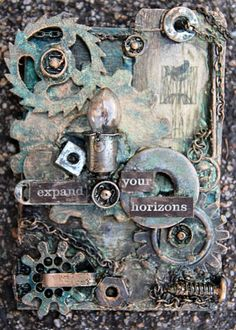 Expand your horizons Steampunk ATC