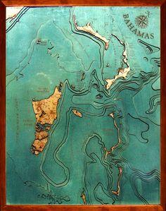 Bahamas Wood Map