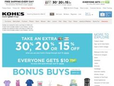 Check out the latest Kohls coupons and Kohls promo codes to save up to 80% on clearance items and more! Many 30% Off,20% Off,15% Off coupon codes!