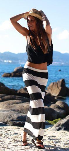 Veraniegp en b&n #moda #look #playa