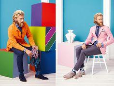 Für die neue Kollektion ließ sich Michael Sieger von der skandinavischen Kultur, dem dortigen Stil und Lebensgefühl inspirieren. So prägen klare strahlende Farben und grafische Muster die Frühjahr/Sommer-Mode 2015, die ausschließlich in deutschen und italienischen Manufakturen gefertigt wird.