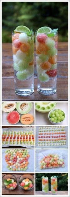 Seervir fruita en bolletes: meló i síndria Fun Drinks, Healthy Drinks, Beverages, Watermelon Jello, Healthy Life, Healthy Eating, Juicer Recipes, Party In A Box, My Glass