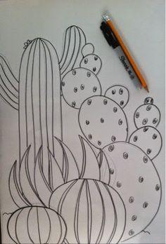 Color Burst Cactus