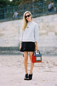 Sale Heather Gray Coral Pink Street Style Pullover Crop Top 77 mv Sweatshirt S M