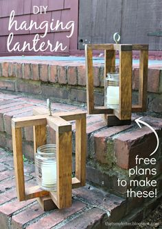 That's My Letter: DIY Hanging Lantern #woodworking                                                                                                                                                                                 More