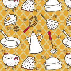 Mod Kitchen fabric by cynthiafrenette on Spoonflower - custom ...