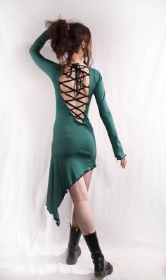 Hey, I found this really awesome Etsy listing at https://www.etsy.com/listing/182169586/open-back-lotus-flower-tunic-dress-pixie