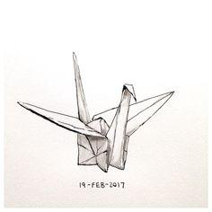 Origami Ball, Origami Cube, Diy Origami, Origami Cranes, Origami Butterfly, Paper Crane Tattoo, Tattoo Paper, Origami Design, Bird Drawings