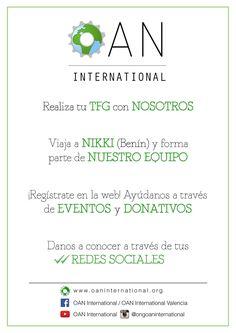 Diseño folleto para ONG OAN International