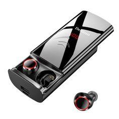 Delinuo 2019 Bluetooth Headset - Wireless - with 6000 mAh Battery - - Digital Display Headphones With Microphone, Best Headphones, Sports Headphones, Windows Xp, Noise Cancelling Kopfhörer, Macbook, Batterie Portable, Carte Sd, Bluetooth Earbuds Wireless