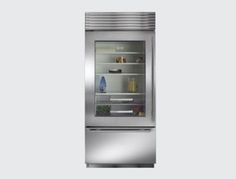 "Subzero 27"" Built-in Tri Zone Wine/Refrigerator Storage - contemporary - refrigerators and freezers - other metros - AJ Madison"