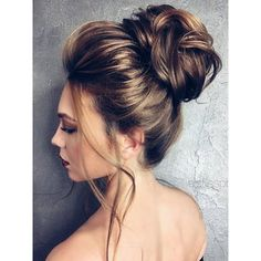 75 Chic Wedding Hair Updos for Elegant Brides ❤ liked on Polyvore featuring accessories, hair accessories, hair, models, bride hair accessories and bridal hair accessories