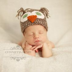 Baby Owl Hat 612 months by JodysBabyGoodies on Etsy, $19.00