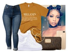 """"""""""" by eazybreezy305 on Polyvore featuring MICHAEL Michael Kors, Thalia Sodi, NIKE, cute, simpleoutfit and 2017"""