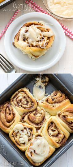 The Perfect Overnight Cinnamon Rolls | crazyforcrust.com