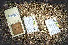 Jack + Clare's Woodland Wedding // #woodlandwedding #wedding #bohemian #bride #woodland #weddingceremony #ceremonysheet #festivalband #ringbox #handmade #haybale #ceremony #england #kent #festivalbrides #DIY #love // Amy Shore Photography