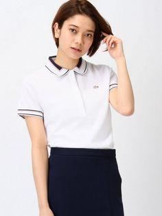 (W)ジャカード襟 ポロシャツ (半袖)
