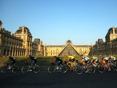 TOUR DE FRANCE 2013 STAGE 21 GALLERY ...Where Team Sky led the peloton past the Louvre and on to the concluding laps