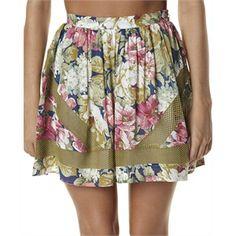 New Womens Zulu And Zephyr Olive Garden Waisted Skirt Ladies Skirt