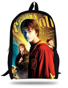 16-inch Primary School Backpack Kids Bags Boys Harry Potter School Bags For Teenagers Mochila Harry Potter Backpack Child