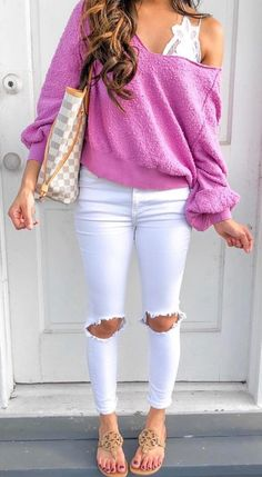 Cute Summer Outfits You Will Love Summertime Outfits, Cute Summer Outfits, Fall Winter Outfits, Outfits For Teens, Cute Outfits, Comfortable Outfits, Stylish Outfits, Fashion Outfits, Ripped Jeans