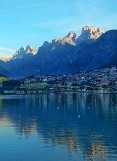 Lago di Auronzo, Belluno, Dolomiti Veneto, Italia