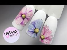 Простой и красивый дизайн ногтей. Рисуем цветы - YouTube