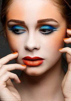 orange and bluuu
