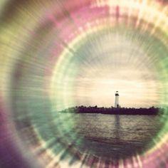 Harbor Lighthouse photograph Santa Cruz California by rookshideout, $5.00