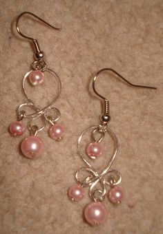 Wire Jig Templates | Again, the same silver wire piece but with small glass pearls hanging ...