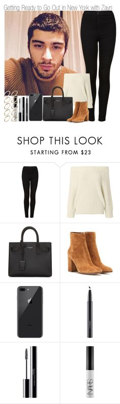 """""""Gettin Ready to go Out in New York with Zayn"""" by elise-22 ❤ liked on Polyvore featuring Topshop, 3.1 Phillip Lim, Yves Saint Laurent, Gianvito Rossi, MAC Cosmetics, shu uemura, NARS Cosmetics, ASOS, Newyork and zaynmalik"""