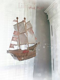 RESERVED for Kim Sailing Ship in Papier Maché by lilliputloft