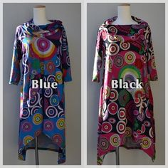 psychedelic dress Blue and Black